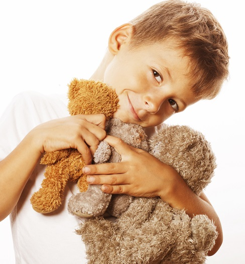 Happy boy with terry bears_15%